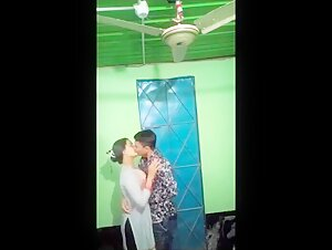 Indian Desi young couples having a romance with clear Hindi audio