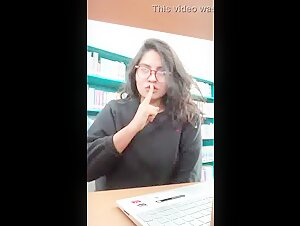 Desi girl in Library For BF